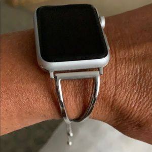 Jewelry - Silver Apple iWatch band (watch face not included)